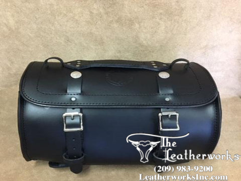 116X Round Luggage Leather Rack Bag