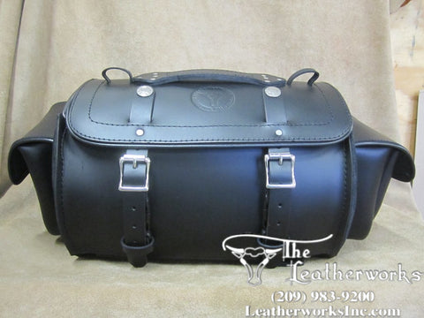 116XP Large Leather Duffel Bag with Side Pockets