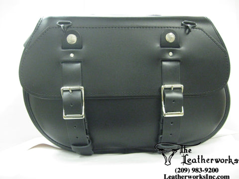 119 Extra Large Retro Classic Leather Saddle Bags