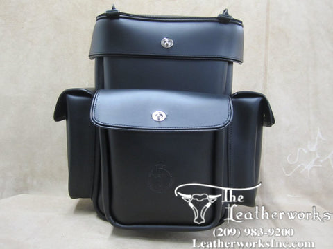 313 Extra Tall Leather Luggage Rack bag