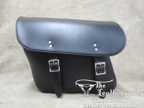 401 Economy Slight Angle Leather Saddle Bags