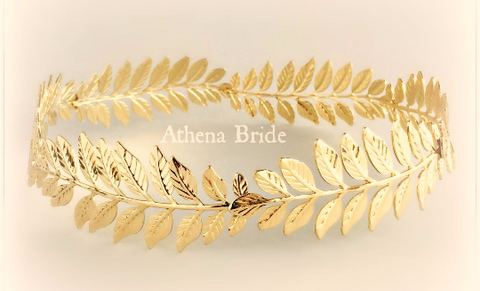 Crown Gold Leaf Headband - Stefana