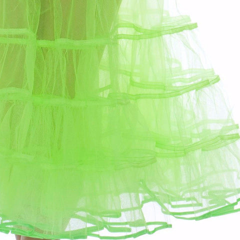 Lime Green Petticoat