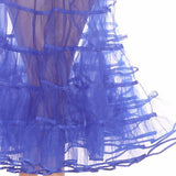 Crinoline royal blue electric