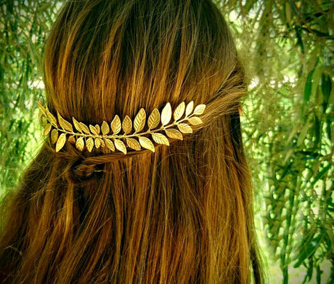 Hair head laurel leaf gold comb leaves