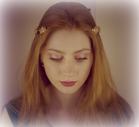 Gold sea shells mermaid crown