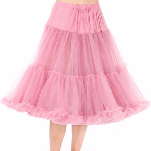 Chiffon Petticoat Skirt Below Knee