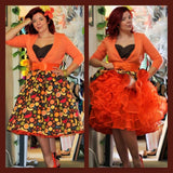Crinoline Orange Pin Up Girl