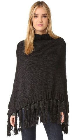 Hat Attack Poncho in Black