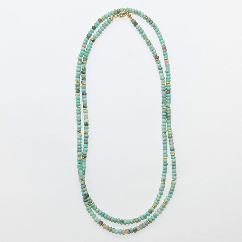 Natural Chrysoprase Layering Necklace