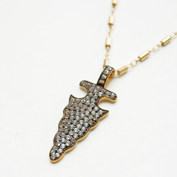 Pavé Arrowhead Necklace