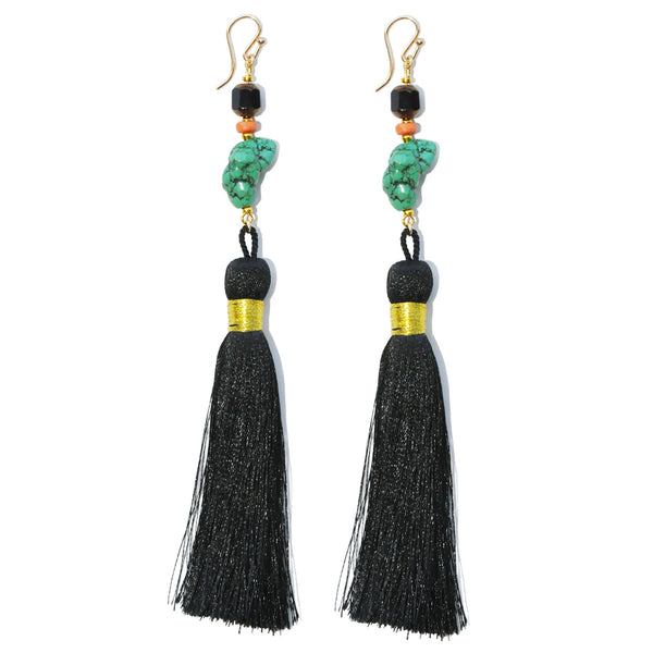 Les Pommettes Chinoiserie Tassel Earrings
