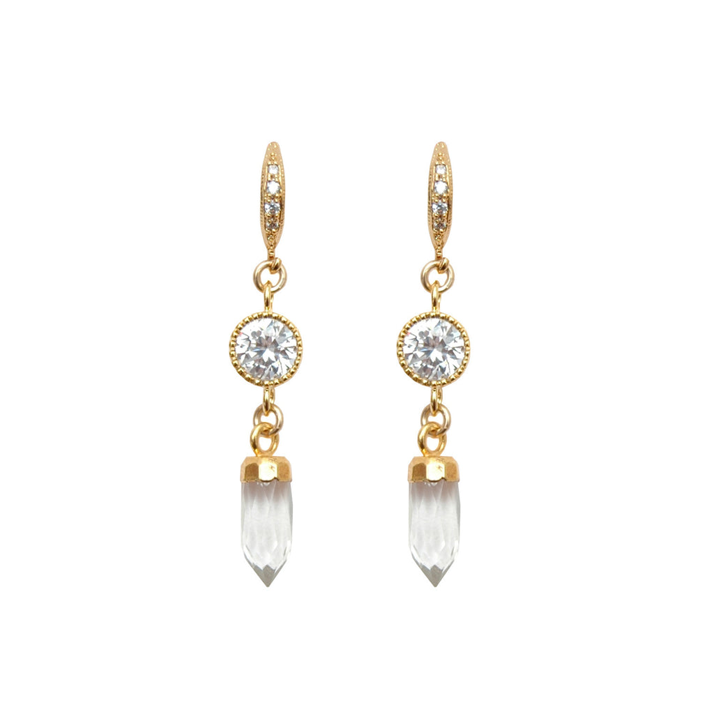 Les Pommettes Crystal Quartz Earrings