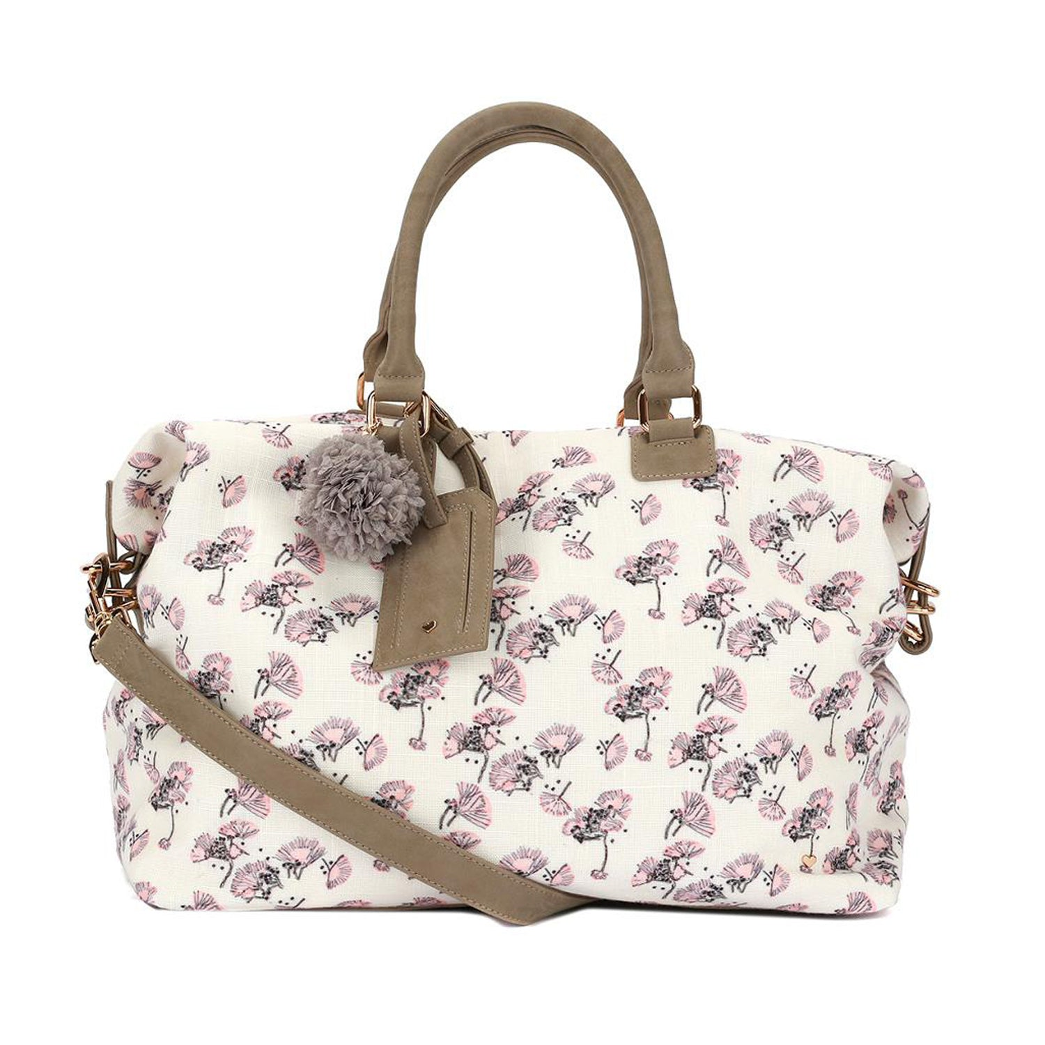 1e8a519193 Deux Lux Weekender Bag in Ivory Bloom - Sun Kissed Diary