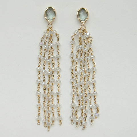 Mint Mystic Quartz Chandelier Earrings