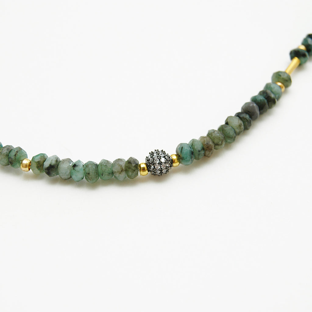 Ombré Emerald Layering Necklace