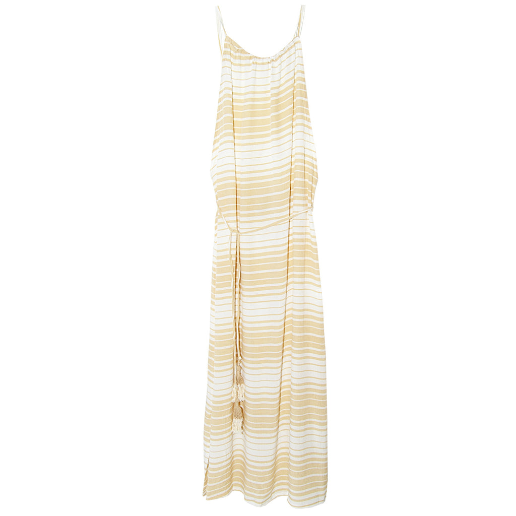 Faithfull Tuscany Midi Dress in Beach Stripes