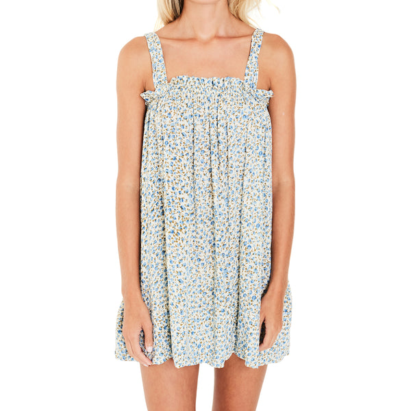 Faithfull The Brand Ocean Dip Dress in Dahlia Floral