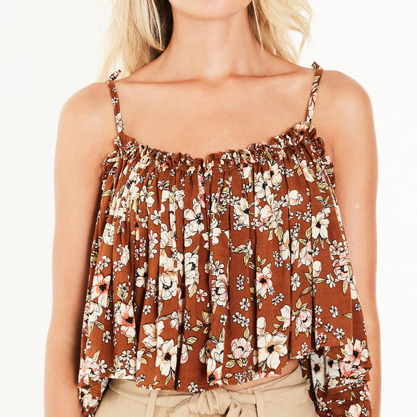 Faithfull The Brand Chania Top in Cecile Rose Print