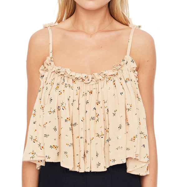 Faithfull The Brand Chania Top in Nature Trail Floral Print