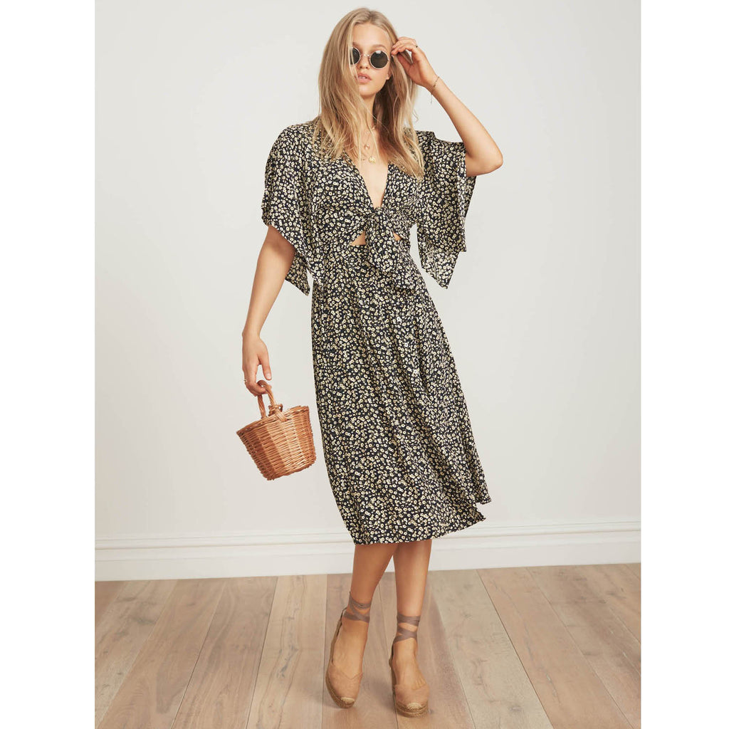 Faithfull The Brand Massimo Midi Dress in Blossom Village Print
