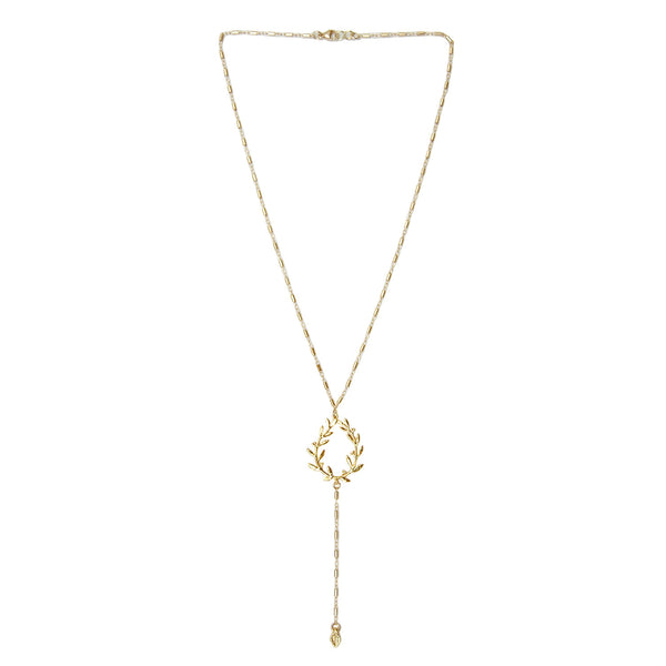 Les Pommettes Wreath Frame Lariat Necklace