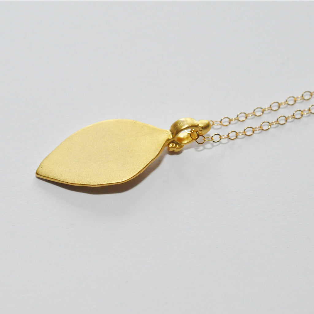 Lucky Feet Gold Necklace