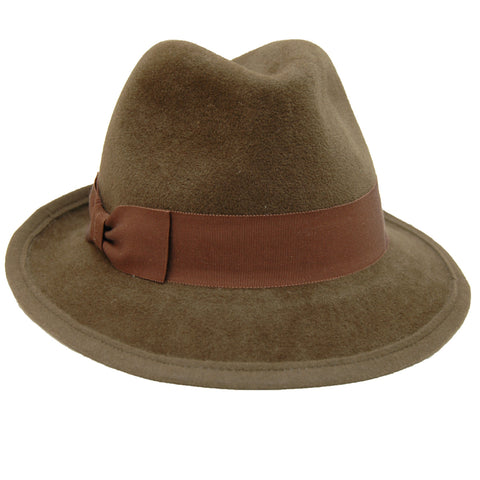 Hat Attack Classic Fedora in Tobacco