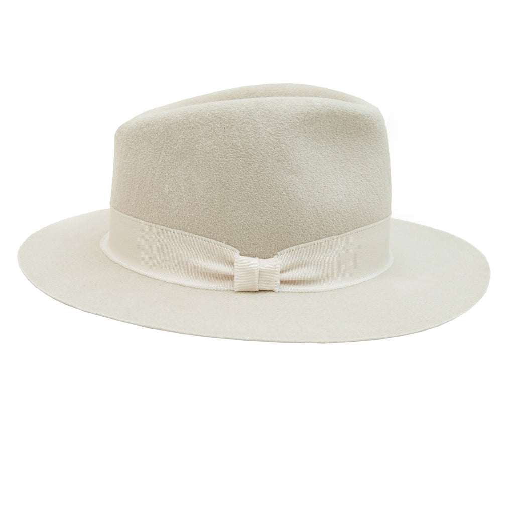 Hat Attack Modern Fedora in Ivory