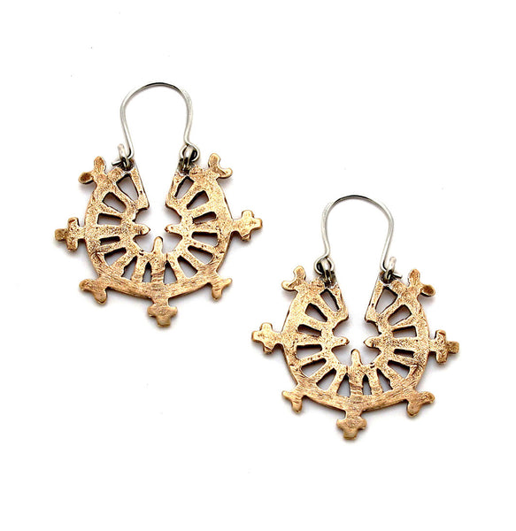 Laurel Hill Wheel Hoop Earrings