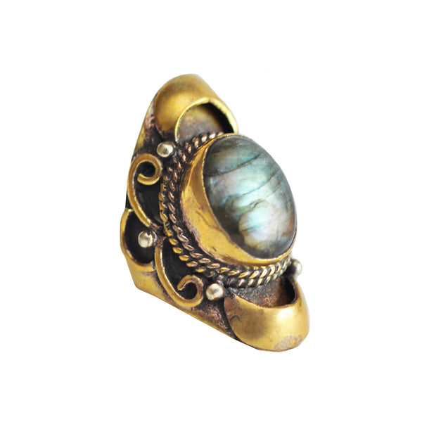 Labradorite Native Ring