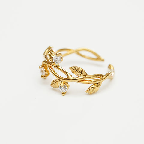 Seymour Leaf Wrap Ring