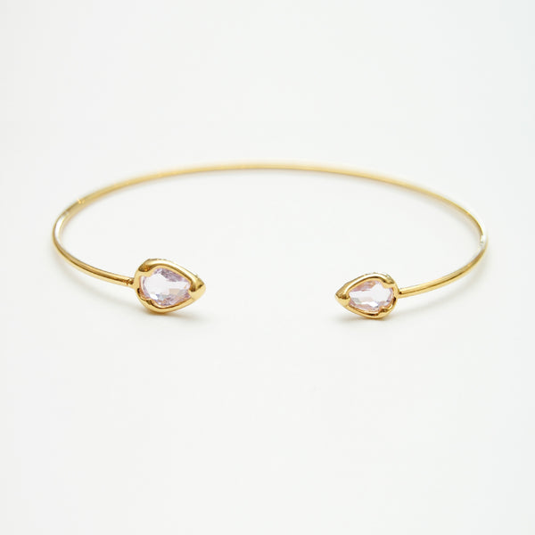 Seymour Clear Pink Bangle