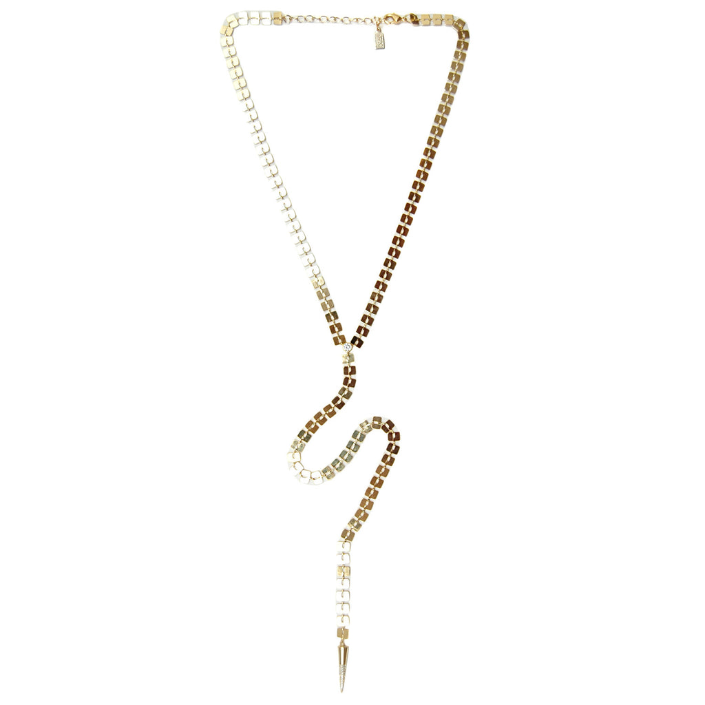 Lucky Star Patera Lariat Necklace