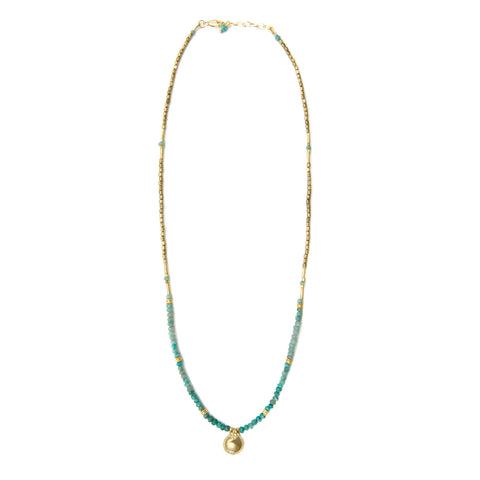 Lulu Chrysocolla Bead Necklace
