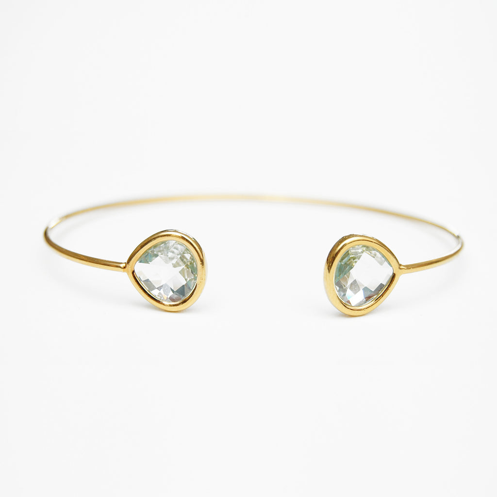 Mint Double Crystal Bangle