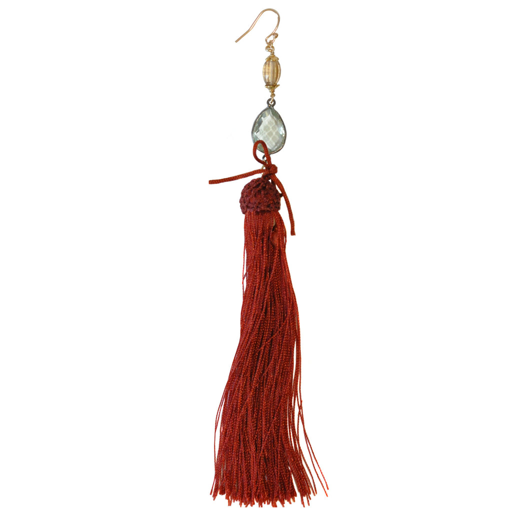 Mix & Match Rust Tassel Earring