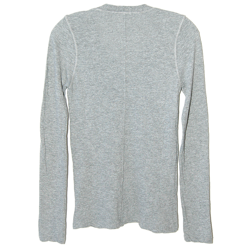 Monrow Long Sleeve Crew in Granite