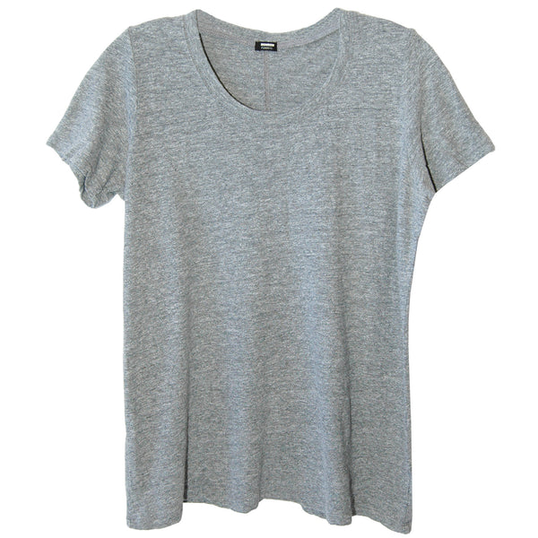 Monrow Oversized Crew T-Shirt in Granite