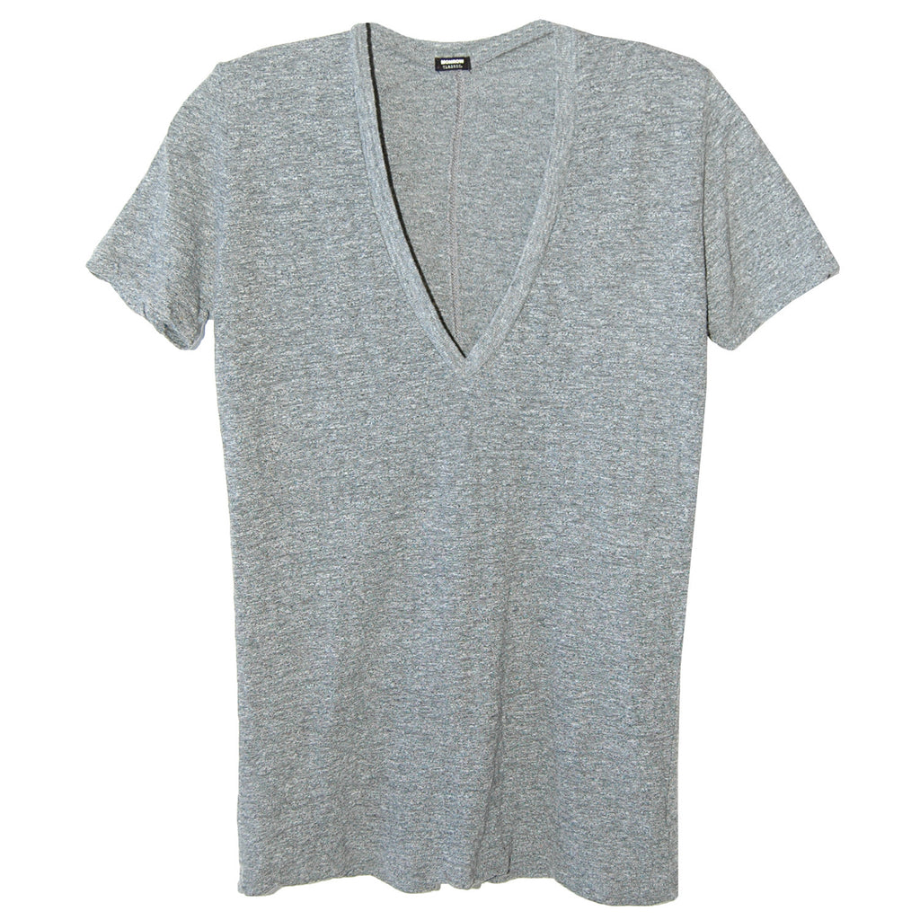 Monrow Oversized V-Neck in Granite