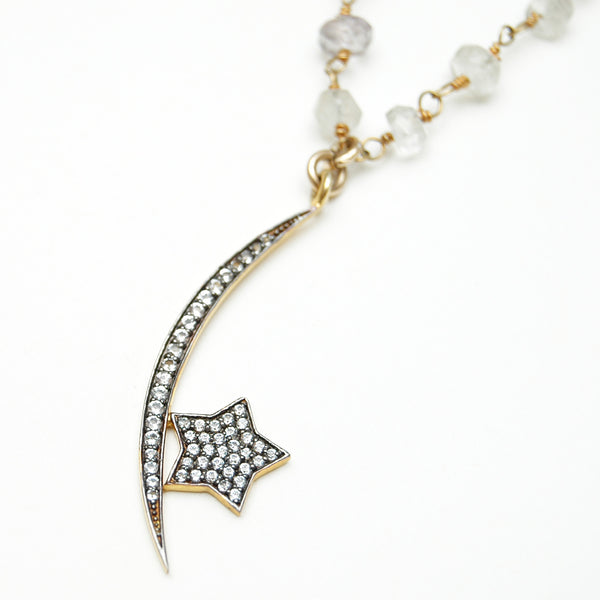 Les Pommettes Moon & Star Necklace