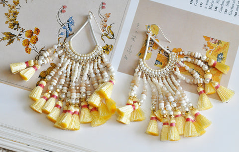Nakamol Butter Tassel Earrings