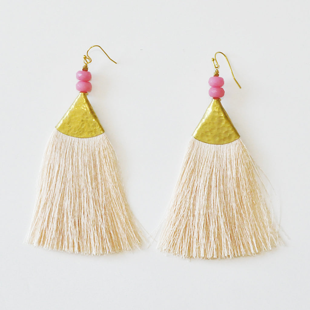 Nakamol Peach Fan Earrings