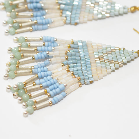 Nakamol Pale Blue Fringe Earrings