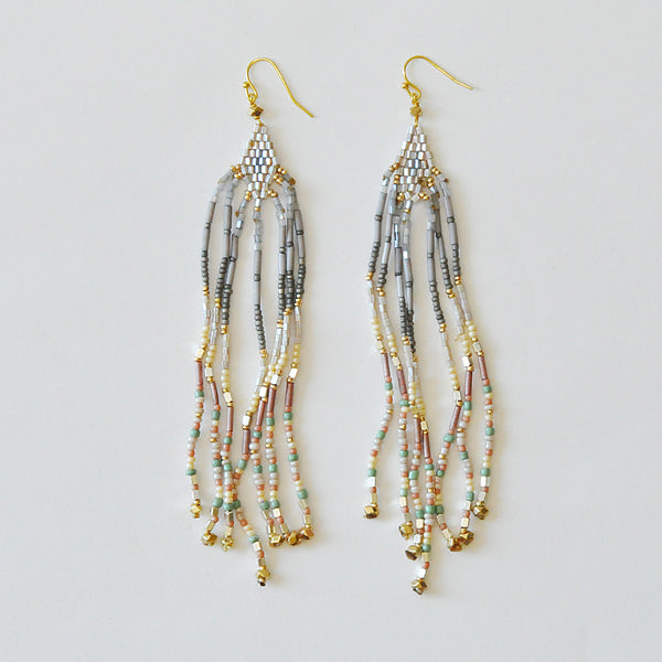 Nakamol Metallic Fringe Earrings