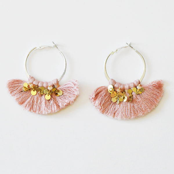 Nakamol Pink Hoop Earrings