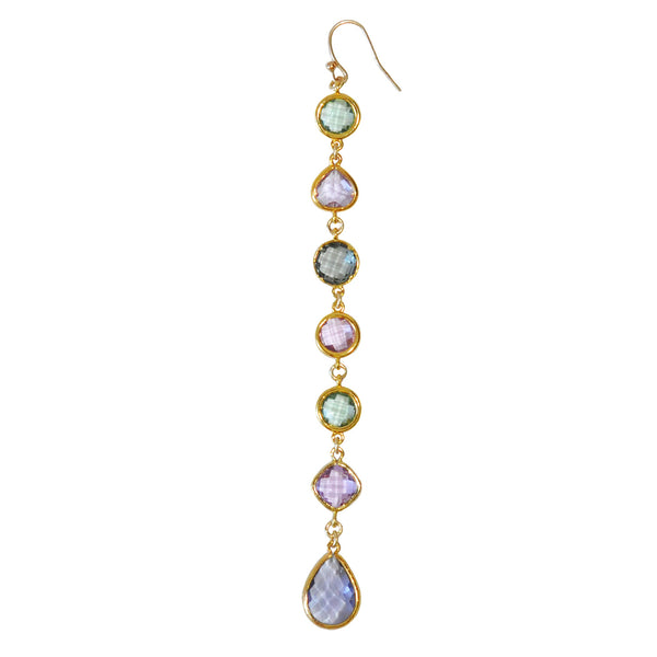 Watercolor Single Long Earring