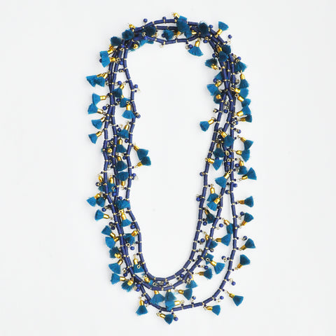 Roberta Roller Rabbit Alani Necklace in Teal