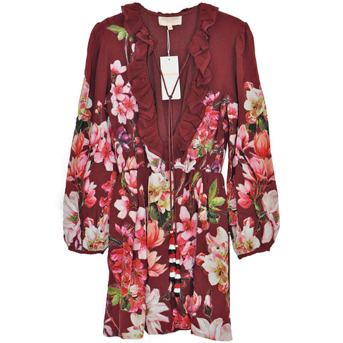 Rococo Sand Amour Dress in Burgundy