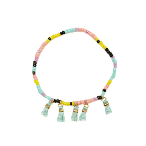 Multi Color Tassel Bracelet